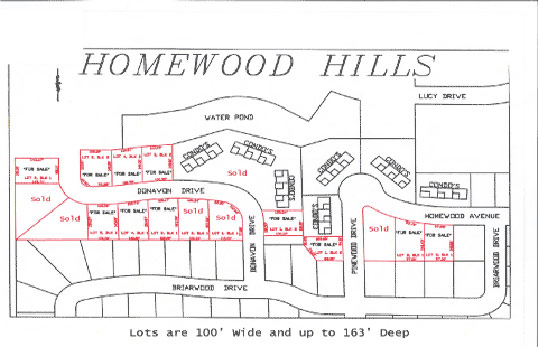 JBR Construction Homewood Hills Map