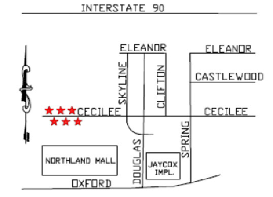 JBR Construction Northland Park Cecilee Map